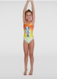 Kids Girl's Disney Minnie Mouse Medalist Swimsuit Orange